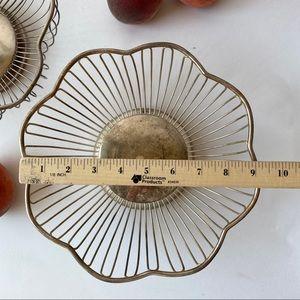 Vintage Accents - Vintage Set of 2 Metal Fruit Bowls Baskets